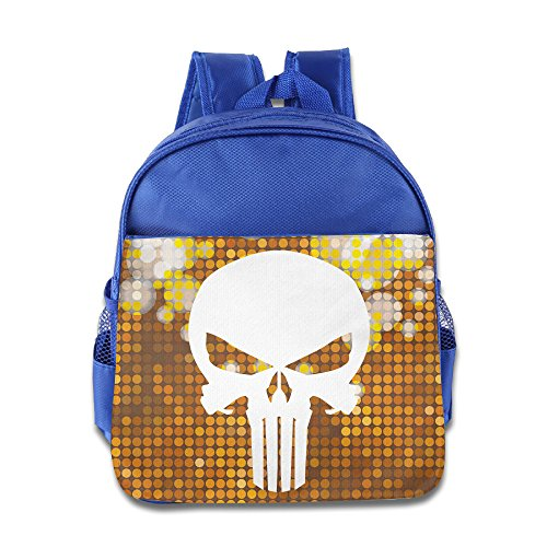 [Custom Punisher Logo Superb Kids School Bagpack For 1-6 Years Old RoyalBlue] (Super Nerdy Costume)