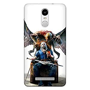 CrazyInk Premium 3D Back Cover for XIAOMI REDMI NOTE 3 - Witcher 2 Blood n Wine