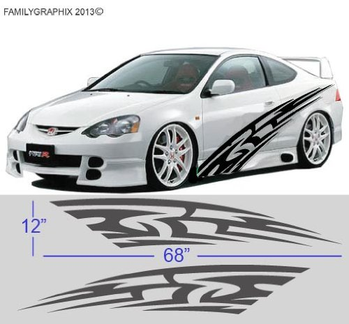 Car Side Door Stickers Graphics - Custom decal graphics on cars