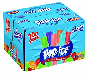 Pop-Ice 1oz Assorted Freezer Bars 100 Count