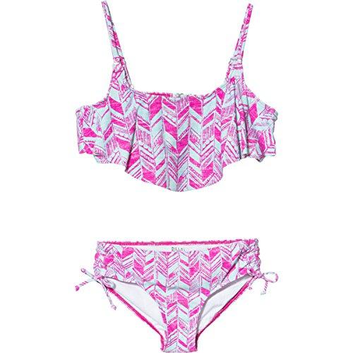 Billabong Girls' Dreamer Flounce Bikini Set Pick Me Up Pink 7 front-1021419