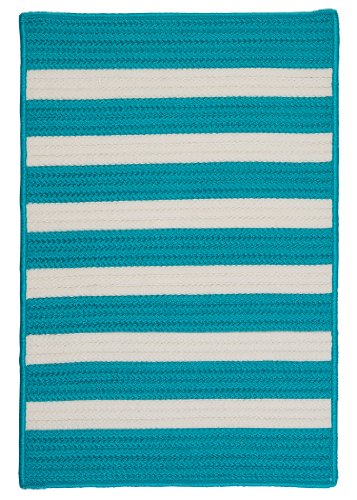 Stripe It Rug, 2 by 3-Feet, Turquoise