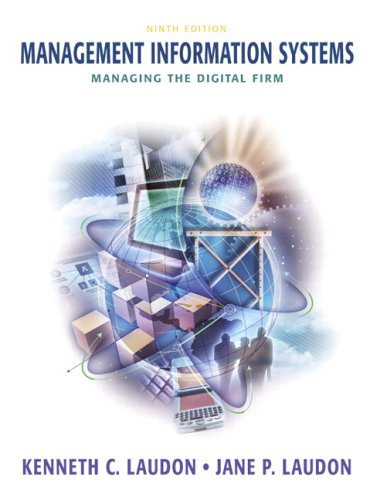 mis laudon Management information systems: managing the digital firm, seventh canadian edition, 7/e kenneth c laudon, new york university jane p laudon, azimuth information systems.