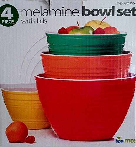 4 Piece Melamine Bowl Set With Lids – 4 Sizes Reviews