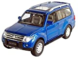 Nuoya001 NEW 1:32 Mitsubishi Pajero SUV Diecast Car Model Collection with light&sound Blue (Include a Cycling Reflective Band as gift)
