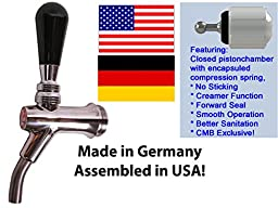 CMB V2g Faucet, Forward Seal, Creamer, Curved Ss Nozzle, Heavy Duty! By Kegconnection