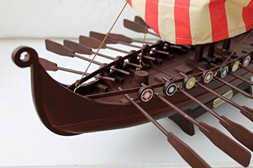 Viking Ship 60 x 40 x 38 cm Wooden / Fabric Ready Made Model Ship Decoration