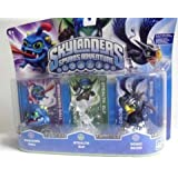 Rare Limited Edition Skylanders Spyro's Adventure Triple Pack - Rare Limited Edition Clear Stealth Elf, Sonic Boom, and Wrecking Ball