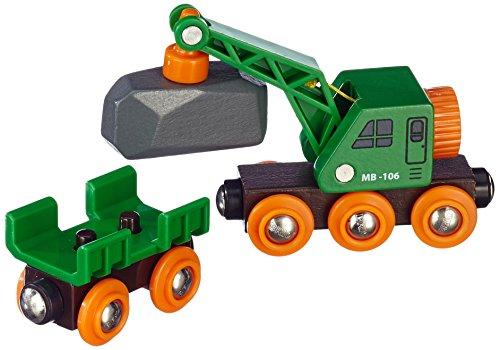 BRIO BRI-33698 Rail Clever Crane Wagon