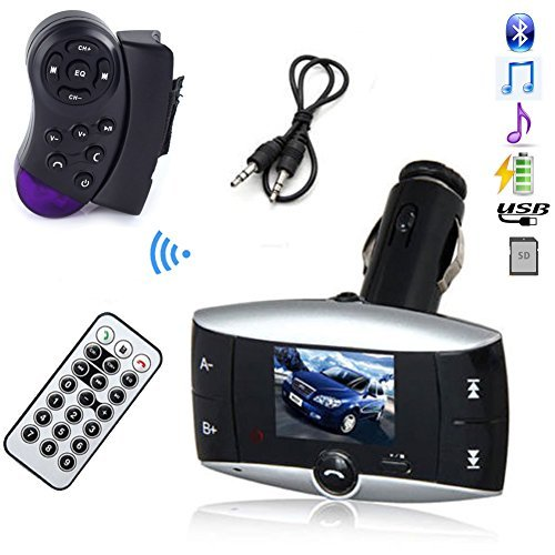 LCD Car Kit MP3 Bluetooth Player SD MMC USB Remote Wireless USB LCD Bluetooth Car Kit MP3 Player Music Player FM Transmitter FM Modulator Player with Steering Wheel Control Car Kit HandsFree MP3 Player (Modulator Steering Wheel compare prices)