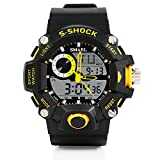 PALADA Men's T1385G Analog Digital Waterproof Dual Time Sports watch with LED Backlight