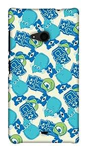 Print Haat Back Case for Lumia 535 (Multicolor)