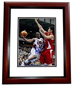 Chris Paul Autographed Hand Signed TEAM USA 8x10 Photo - MAHOGANY CUSTOM FRAME - Los... by Real Deal Memorabilia