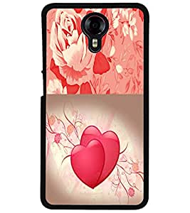 ColourCraft Heart and Flower Design Back Case Cover for MICROMAX CANVAS XPRESS 2 E313
