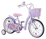 アイデス (ides) ちいさな プリンセス ソフィア18 Disney princess 子ども用 キッズ 自転車 幼児車 補助車 カゴ 宝石 バルブキャップ スポークアクセサリー付き キラキラ ハート型 パープル 18インチ