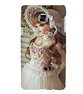 Printvisa Baby Doll Dressed Up In White Gown Back Case Cover for Samsung Galaxy C7