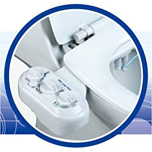 Luxe Bidet MB320 Double Nozzle Fresh and Warm Water Spray Bidet Toilet Seat Attachment