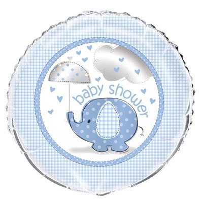 "Blue Elephant Baby Shower 18"" Foil Balloon"