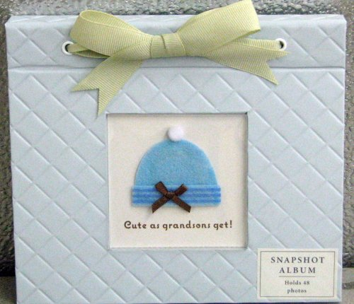 Hallmark Baby BBA3730 Cute as Grandsons Get! 4 X 6 Slim Snapshot Photo Album - 1