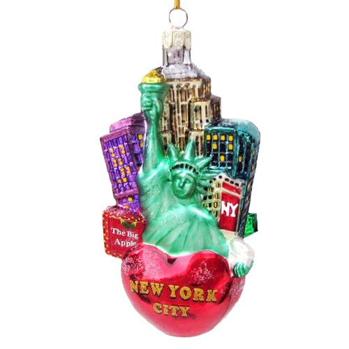 Kurt Adler C4108 New York City Glass Cityscape Ornament, 5-Inch Check ...