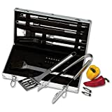 Chef-Master KTBQSS22 22 Piece Stainless Steel Barbeque Tool Set