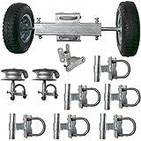 ALEKO® Gate Kit #2 Rolling Gate Hardware Kit Chain Link Rolling Gate Guides Rollers Track Brackets