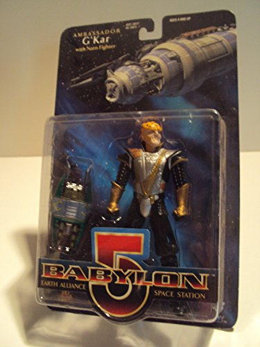 1997 - WB Toys / Exclusive Premiere Dist - Babylon 5 Earth Alliance Space Station - Ambassador G'Kar Action Figure - w/ Narn Fighter - Rare - Out of Production - New - Collectible - 1