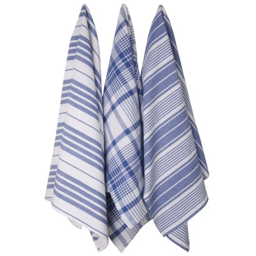 Now Designs Jumbo Pure Kitchen Towel, Royal, Set of 3