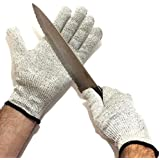 Cut Resistant Gloves - Kitchen Safety Glove Knife and Mandolin Protection - Mesh and Cut Shield Proof Protective - High Quality Rating Performance Chart EN388 Slash CE Level 5 - Washable Food Safe, Good Multitasking Work Gloves - Free Ebook