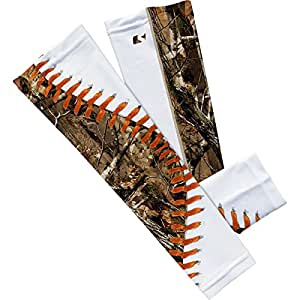 Amazon com forest baseball lace arm sleeves sports amp outdoors