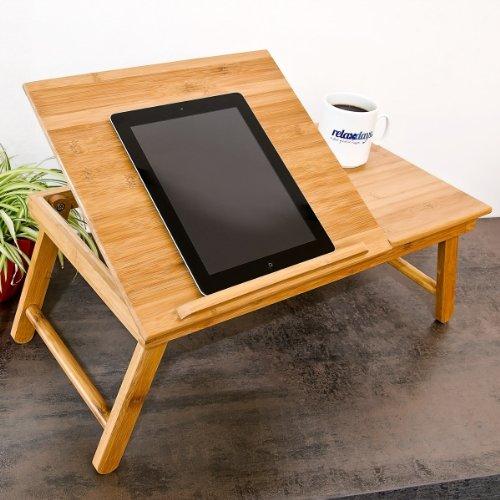 Verstellbarer Laptoptisch aus Bambus