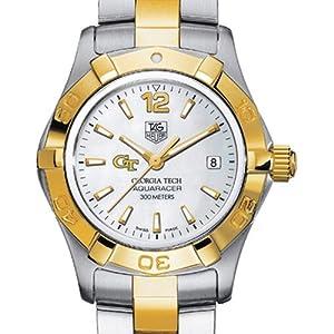 Georgia Tech TAG Heuer Watch - Ladies Two-Tone Aquaracer Watch by TAG Heuer
