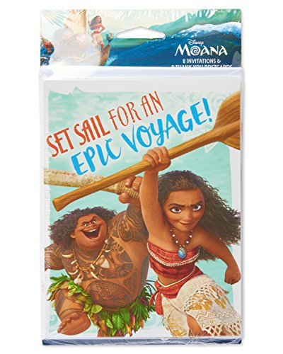 Moana Birthday Invite and Thank You Combo Pack