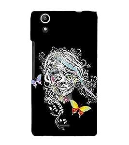 Girl Graffiti 3D Hard Polycarbonate Designer Back Case Cover for Micromax Canvas Selfie 2 Q340