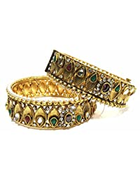 Shingar Jewellery Ksvk Jewels Antique Gold Plated Bangles Set For Women (5936-m-P)