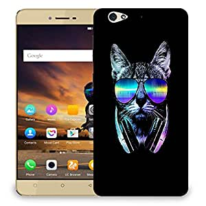 Snoogg Cat With Glares Designer Protective Back Case Cover For GIONEE S6