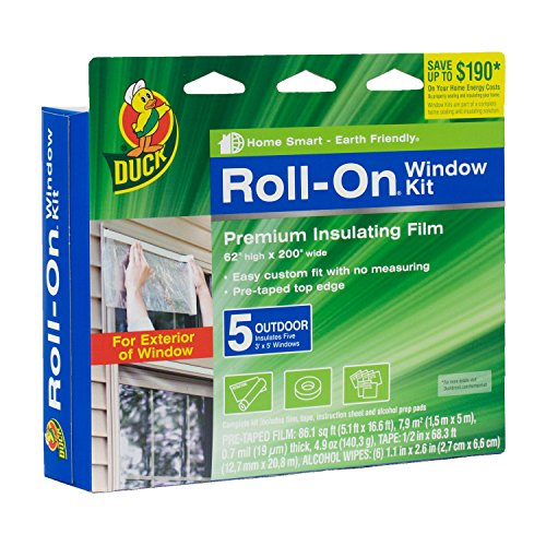 Duck Brand 281072 Roll-On Outdoor 5-Window Premium Insulating Film Kit, 62-Inch x 200-Inch (Window Insulation Kit Outdoor compare prices)