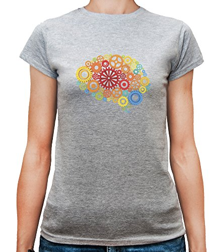 damen-t-shirt-mit-mechanical-brain-illustration-print-rundhalsausschnitt-x-large-grau