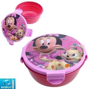 Children's / Kids Plastic Lunchbox / Snack Pot (Minnie Mouse)