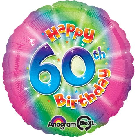 Amscan Happy 60th Birthday Circle Foil Balloon HS40