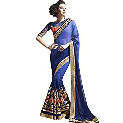 Vasu Saree Navy Blue Georgette Designer Saree