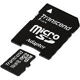 Transcend Hi-Speed Micro SDHC 16GB Class 6  Speicherkarte mit SD Adapter [Amazon Frustfreie Verpackung]