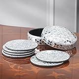 Silver Sparkling Coasters (6)