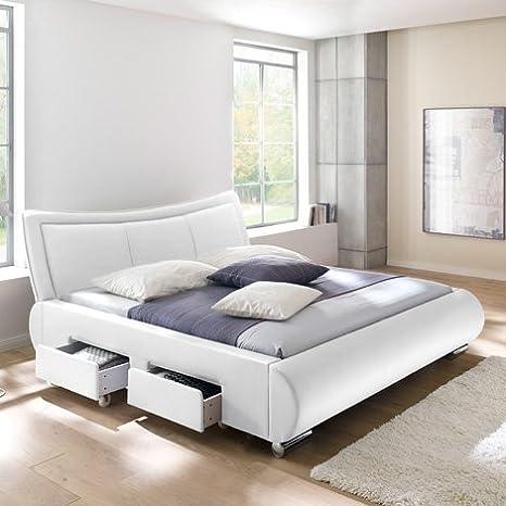 "Polsterbett ""Laros"" (Weiß, 200 x 200 cm)"