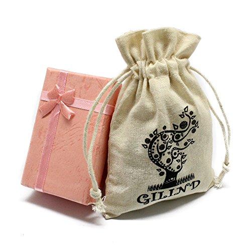 gilind argent 925 boule disco collier et boucles d oreille kit pour femme bo te cadeau. Black Bedroom Furniture Sets. Home Design Ideas