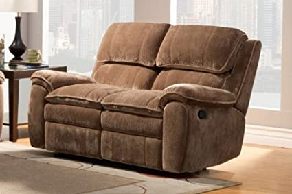 Reilly Double Reclining Love Seat Brown