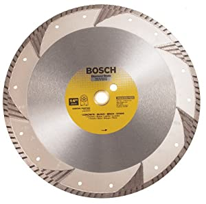 Bosch DB1463 Premium Plus 14-Inch Dry or Wet Cutting Turbo Continuous Rim Diamond Saw Blade with 1-Inch Arbor for Masonry at Sears.com