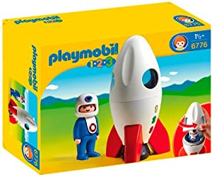 Playmobil 1.2.3 6776 Moon Rocket