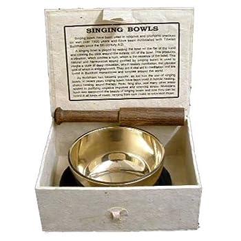 Fair Trade Medium Sized Tibetan Singing Bowl Boxed Set from New Age