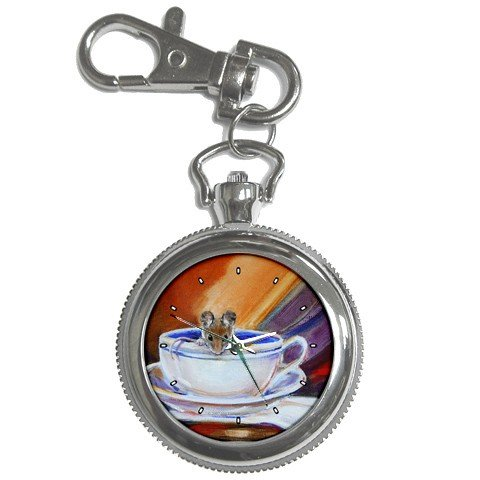 Limited Edition Violano Keychain Pocket Watch Victorian Teacup Mouse